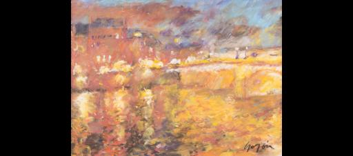 Pierre GOGOIS - Pintura - Lumière sur le Pont Neuf