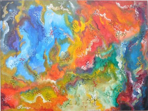 Romeo DOBROTA - Painting - Colours, inside of marble,