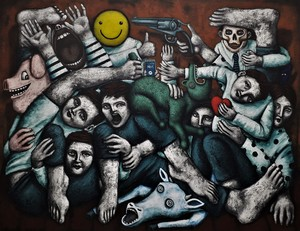 Nicolas MONJO - Painting - Distanciations relatives