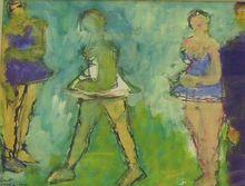 Fikret Saygi MUALLA - Drawing-Watercolor - Danseuses