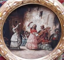 Rafael SENET Y PÉREZ - Pintura - BAILE FLAMENCO