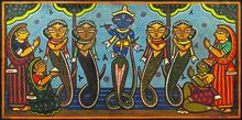 Jamini ROY - Pintura - Krishna