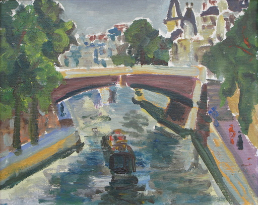 Shimshon HOLZMAN - Pittura - Paris Seine