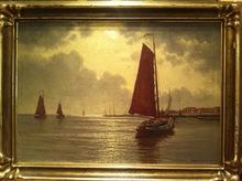 Ernst LORENZ-MUROWANA - Pintura - Hafenansicht