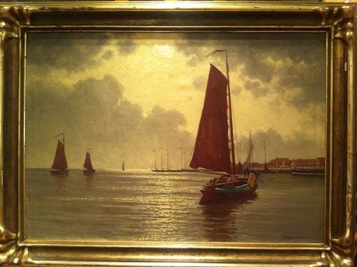 Ernst LORENZ-MUROWANA - Painting - Hafenansicht
