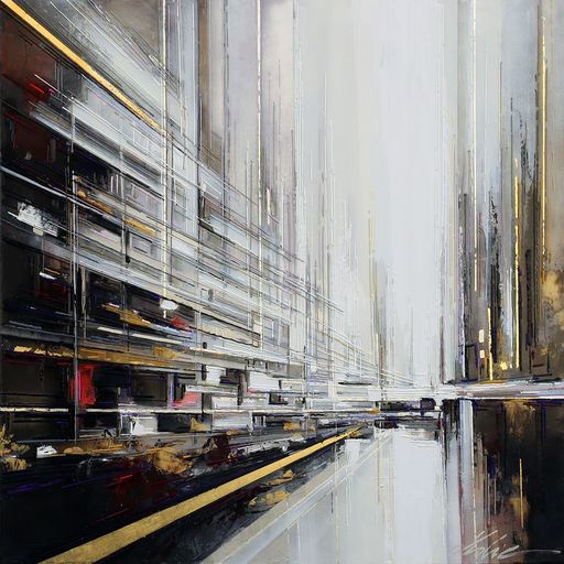 Leslie BERTHET LAVAL - Peinture - Cité urbaine n °34