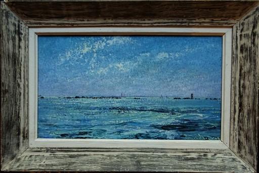 Pierre FLEURY - Pittura - Beau temps sur l'Ar-Men, Ile de Sein