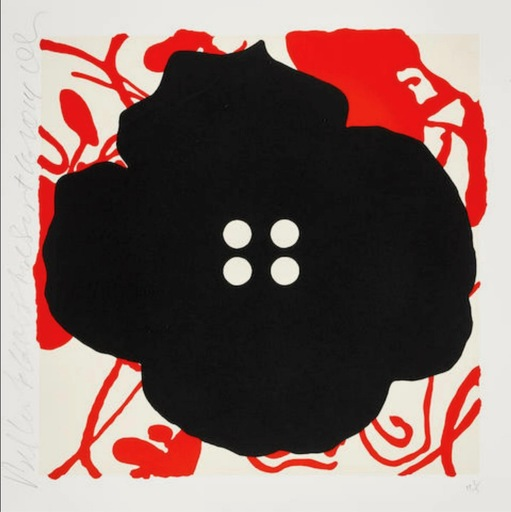 Donald SULTAN - Print-Multiple - Button Flower Red Sept. 15 2014