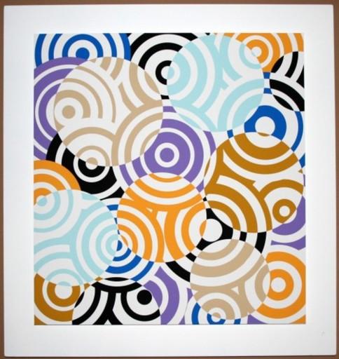 Antonio ASIS - Grabado - interferences cercles de couleurs
