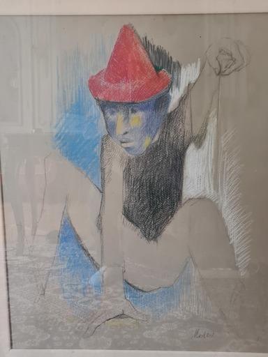 Yvonne MOTTET - Drawing-Watercolor - Le clown