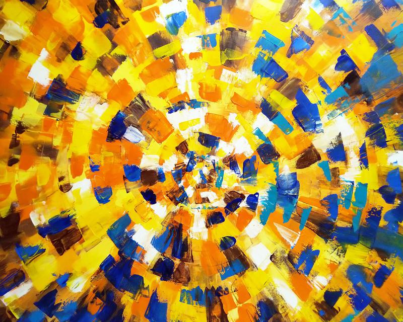 KSELMA RANDVALD - Gemälde - Yellow Labirynt