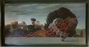 Jean-Pierre ALAUX - Peinture - JEUNE FILLE A LA LICORNE