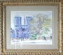 Georges YOLDJOGLOU - Painting - Vue de Notre Dame de Paris