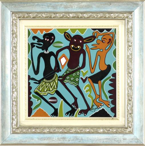 George LILANGA - Painting - Wewe ni rafiki yetu wala usiondo ke hapa