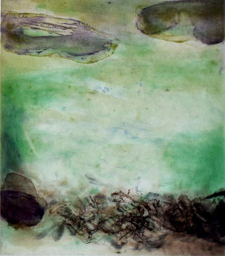赵无极 - 版画 - Composition VIII, from: Canto Pisan