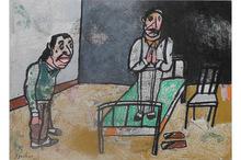 Antonio SEGUI - Drawing-Watercolor - Oracion