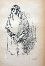 Hermann STRUCK - Print-Multiple - Portrait of a Jewish Woman Standing