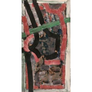 Jean-Paul RIOPELLE - Disegno Acquarello - F.Jag (Ficelles Jaguar)