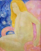 Alain BONNEFOIT - Pintura - Jeanne in the Armchair