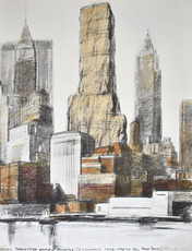 CHRISTO - Print-Multiple - Lower Manhattan Packed Building