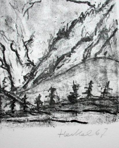 Erich HECKEL - Estampe-Multiple - Verschneite Berge