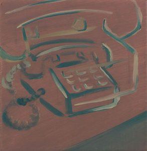 Martin AITKEN - Painting - « Téléphone rose »