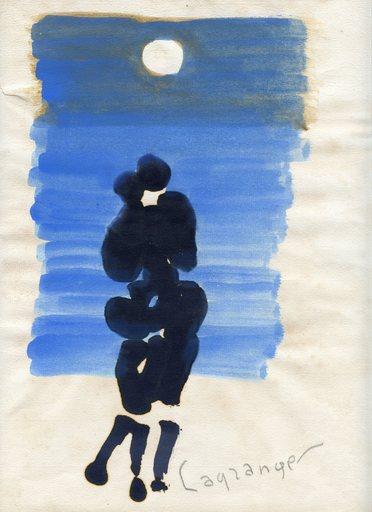 Jacques LAGRANGE - Dibujo Acuarela - DESSIN À L'ENCRE GOUACHE SIGNÉ CRAYON HANDSIGNED INK DRAWING