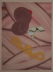 Sergio DANGELO - Gemälde - Senza titolo