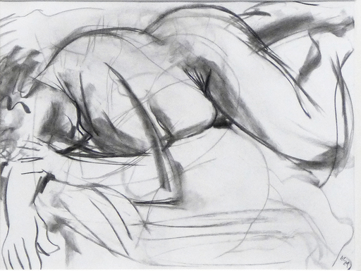 Anthony CARO - Zeichnung Aquarell - Nude