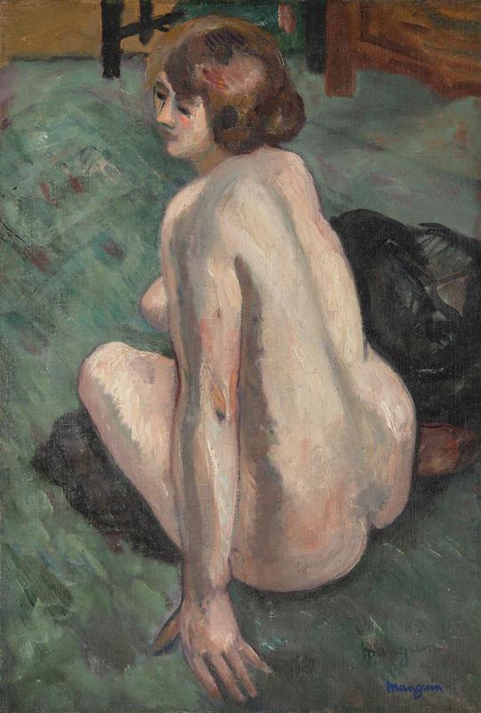 Henri MANGUIN - Pittura - Grenouillette, vue de dos