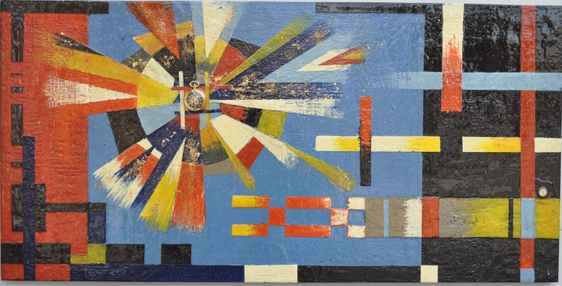 Romeo DOBROTA - Painting - Cosmic vibrations