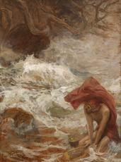 Jan STYKA - Painting - Ulysse échappe à Charybde (série sur l'Odyssée d'Homère)