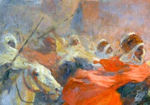 Ulpiano CHECA Y SANZ - Pintura - FANTASIA ARABE
