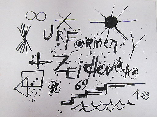 Arnold FIEDLER - Disegno Acquarello - Urformen-Zeichen