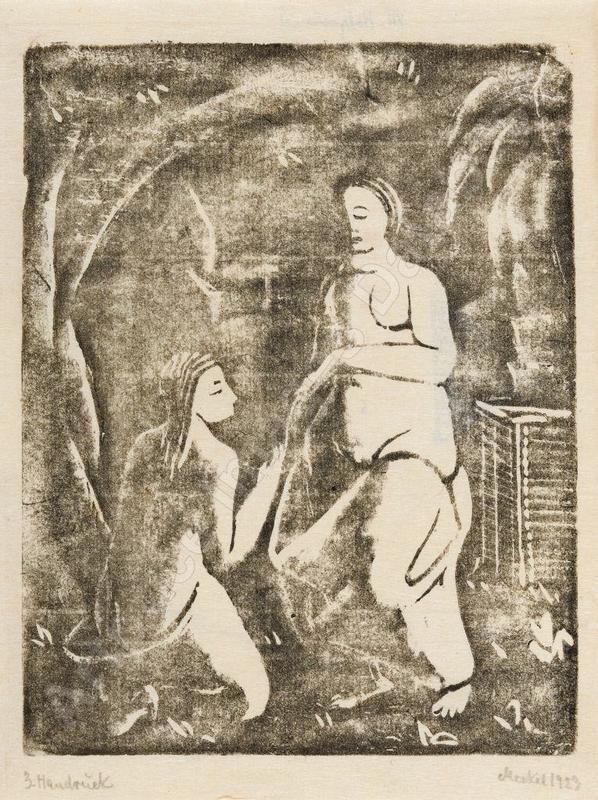 Georg MERKEL - Print-Multiple - Zwei Frauenakte (Arkadische Szene), 1923