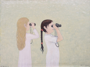 Roman ANTONOV - Pittura - Girls with Field-Glasses