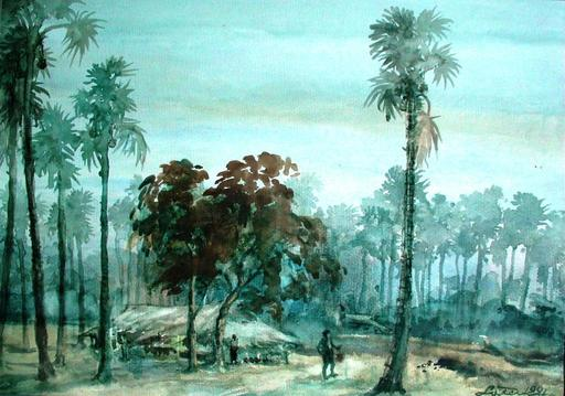 U LU TIN - Painting - Todi palm juice collection