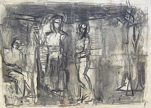 Erich HARTMANN - Drawing-Watercolor - 3 abstrakte Figuren