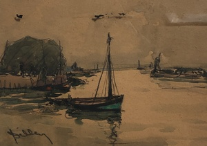 Ramon DILLEY - Drawing-Watercolor - Marine