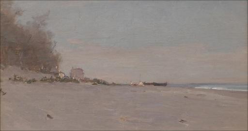 François BOCION - Gemälde - Plage de la Coudrée