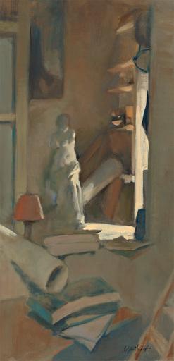 Antoine VINCENT - Gemälde - Vénus à l'atelier