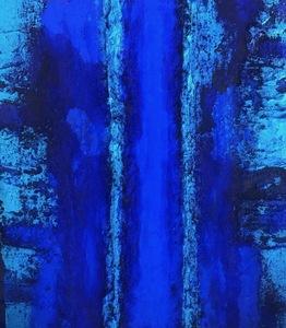 Marcello LO GIUDICE - Painting - Eden blue