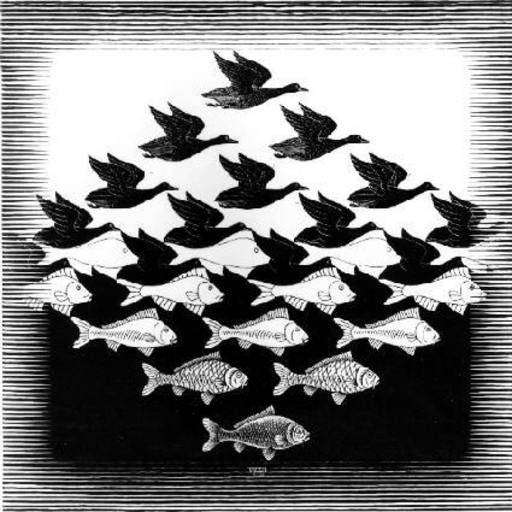 Maurits Cornelis ESCHER - Stampa Multiplo - Lucht en water/Sky and water