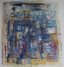 Christine Ange LEFEVRE - Peinture - Sans titre aux grands carrés 1