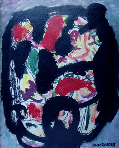 Anton LAMAZARES - Peinture - CABEZA