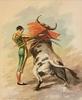 Alfredo CARMELO - Painting - Pepe Luis Vazquez en un Pase de la Muerte