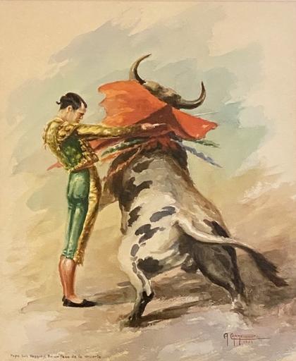 Alfredo CARMELO - Pintura - Pepe Luis Vazquez en un Pase de la Muerte