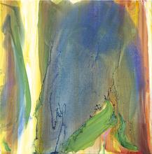 Olivier DEBRÉ - Painting - Faille jaune vif, fond bleu vert