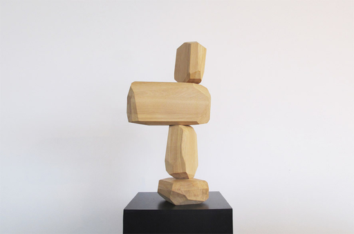 Arik LEVY - Skulptur Volumen - MicroRockFormation wood 6