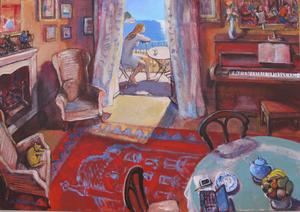 Josep MOSCARDO - Pintura - INTERIOR Y CATIFA